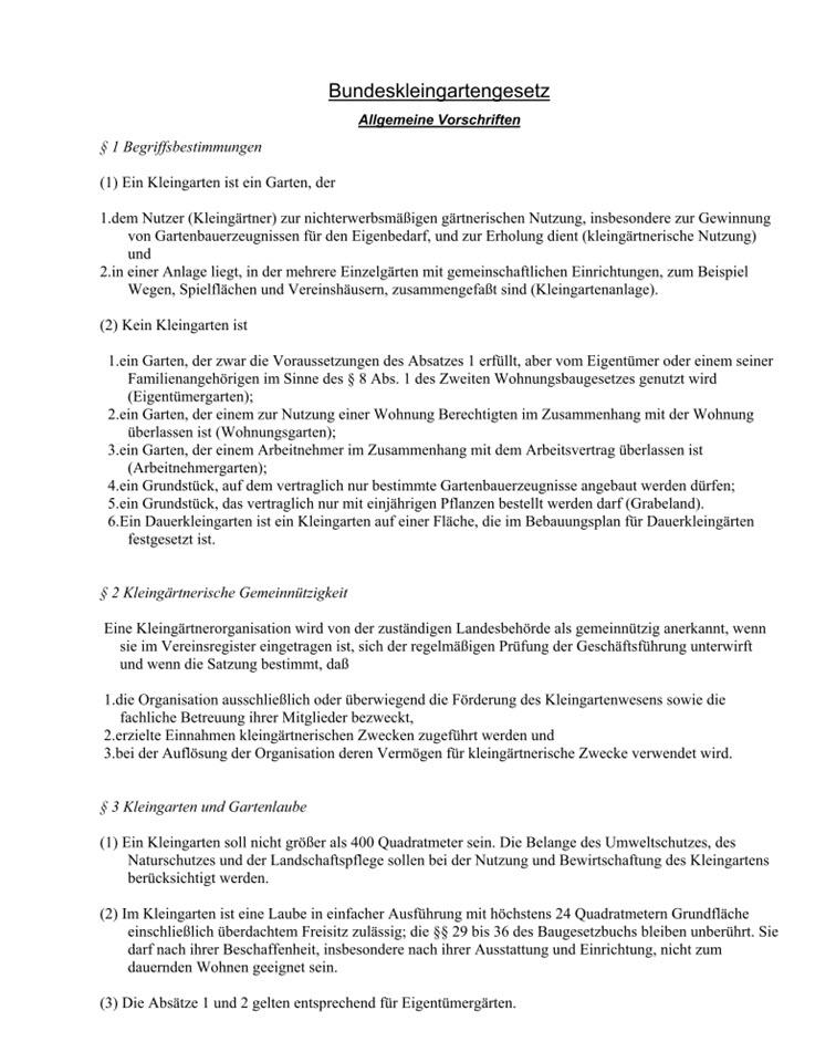 Neue Rahmenkleingartenordnung 2020